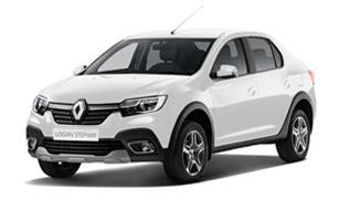 Белый Renault Logan 2019 седан